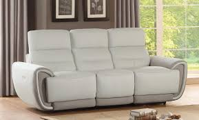 Double Reclining Sofa by Homelegance Valda Power Double Reclining Sofa Top Grain Leather