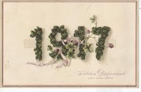 new year post card 1917 herzlichen glickwunsch zum neuen tahre new year postcard