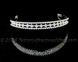 silver headband silver and rhinestone headband tiara hair accessories