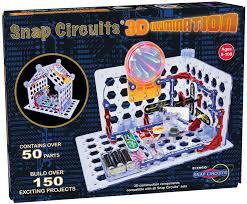 snap circuits lights electronics discovery kit snap circuits 3d illumination elenco