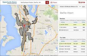 Sea Airport Map Redfin Presents Opportunity Score At White House Open Data Event