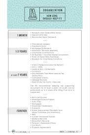 paper organization how long should i keep it free printable