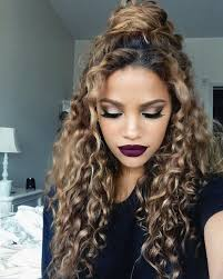 getting hair curled and color 15 incredibly hot hairstyles for natural curly hair half updo