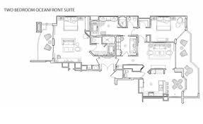 Hotel Room Floor Plan Design Miami Resort Suites 2 Bedroom Oceanfront Hotel Suite Acqualina