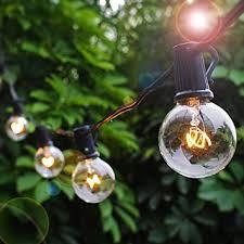 patio lights string lights g40 globe bulbs warm