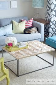 sarah m dorsey designs herringbone driftwood table