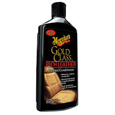 Leather Upholstery Cleaner Shop Meguiar U0027s Gold Class Leather Cleaner And Conditioner 14 Fl Oz