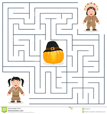 thanksgiving maze for stock vector image 45525155