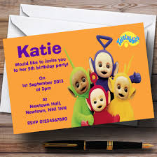 personalised halloween party invitations teletubbies personalised children u0027s birthday party invitations