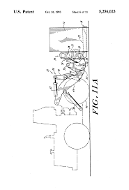 jeep front drawing patent us5256023 roll out forklift for bulk materials