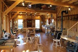 timberframe wood shop with wood stove shop buildings pinterest