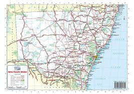 map of new south wales map of nsw australia travel maps and major tourist attractions maps