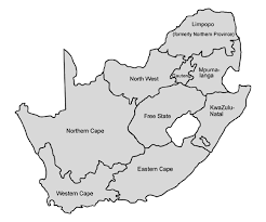 africa map black and white south africa maps