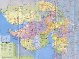 Gujarat India Map by Gujarat Trails Maps