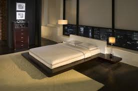 low height bed modern japanese bedroom ideas with low height side table and nice