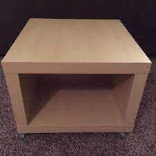 ikea side table with drawer find more ikea lack side table storage cube on casters for sale at