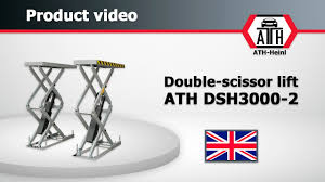 double scissor lift ath dsh3000 2 youtube