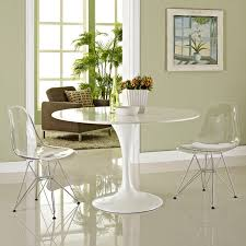 modway eei 1261 clr paris dining side chair in clear polycarbonate