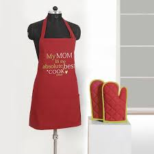 novelty chefs kitchen cooking apron oven gloves set crafts baking novelty chefs kitchen cooking apron oven gloves set