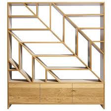 Oak Room Divider Shelves Leaf White Oak Room Divider And Display Shelving In And