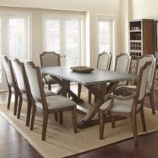 9 piece dining room sets steve silver wayland 9 piece zinc top dining room set in driftwood