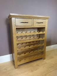 toronto oak wine rack cabinet holder 30 bottle capacity 75cm