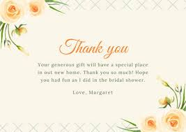 for bridal shower customize 36 bridal shower thank you card templates online canva