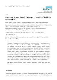 virtual and remote robotic laboratory using ejs matlab and