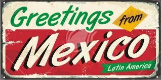 greetings from mexico retro postcard image lukeruk