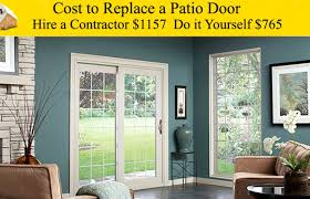 door imposing cost to replace a sliding glass door with french