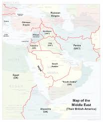 Middle Eastern Map Image Map Of The Middle East Their British America Png