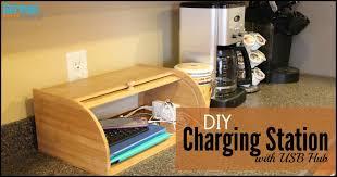 Build A Charging Station Diy Charging Station Organizer With Usb Hub German Pearls