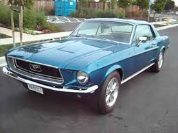 1950s mustang 1968 blue mustang for sale export only