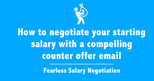 salary negotiation email sample free counter offer letter templates
