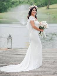 fitted wedding dresses 17 boho lace wedding dresses for the free spirited