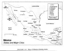 Map Of Mexico States And Cities by Global Warming And Mexican Agriculture Some Preliminary Results