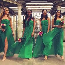 ever pretty long chiffon junior emerald green bridesmaid dress