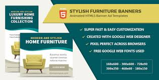 home decor ads furniture home decor banner ads html5 gwd by infiniweb codecanyon