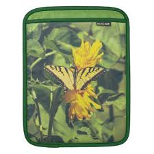 yellow butterfly flowers sleeve for ipads