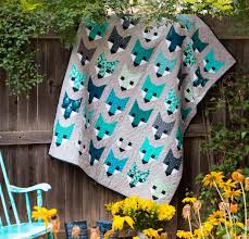 animal quilt patterns with a fun modern design style