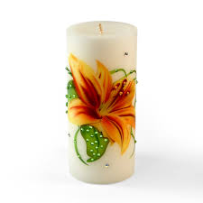 decorative flower decorative luxury candle tiger lily flower from home decor
