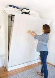 Murphy Bed Everyday Use Before U0026 After Creating A Small Space Guestroom With Method