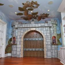 Castle Kids Room by Pastoral Beanstalk Mural And Castle Gate And Luxury Baby Cribs In