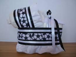 soccer sports theme boy diaper bassinet baby shower gift table