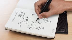 pen writing on paper this new moleskine is like an ipad made of paper
