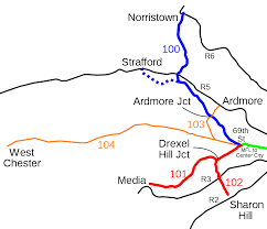 Septa Rail Map Septa Route 104 Wikipedia