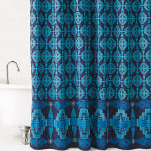 Turquoise Shower Curtains Western Inspired Shower Curtains