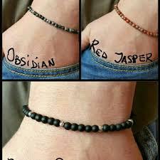 black bead bracelet men images Mens bracelet mens black onyx 4mm from pupikjewelry on etsy jpg