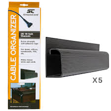 Cord Hider For Wall Mounted Tv Amazon Com J Channel Cable Organizer By Simplecord U2013 5 Black