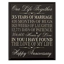 35th anniversary gifts 35th anniversary gift for